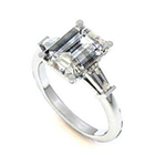 emerald cut diamond wedding ring